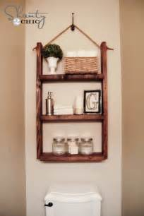 Shelves In The Bathroom by How To Make A Hanging Bathroom Shelf For Only 10