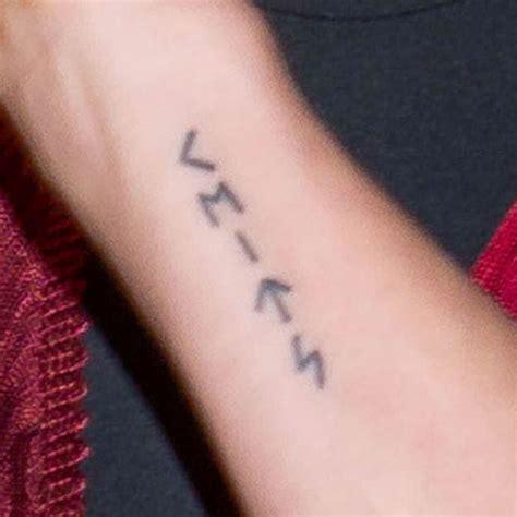 elsa pataky writing forearm tattoo steal  style