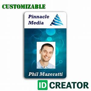 professional and customizable employee id from idcreator With staff id badge template