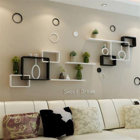 tv background wall shelving cross creative lattice shelf clapboard restaurant living room living