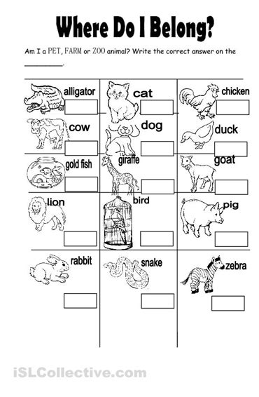 11 best images of zoo animal worksheets zoo animals