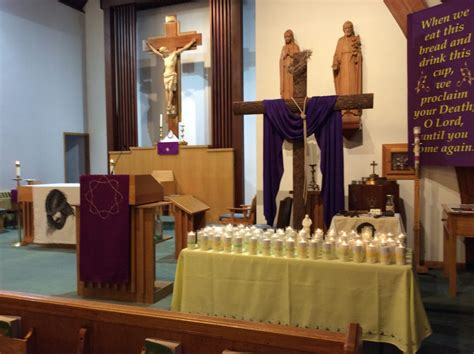 candles lit  church diocese  altoona johnstown