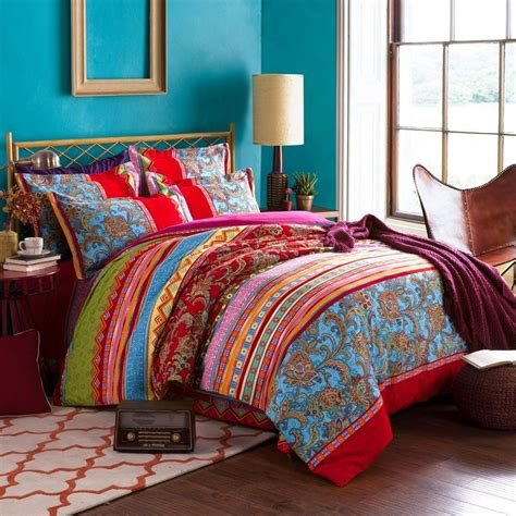 bohemian ethnic style bedding sets boho duvet cover set cotton 4 ebay