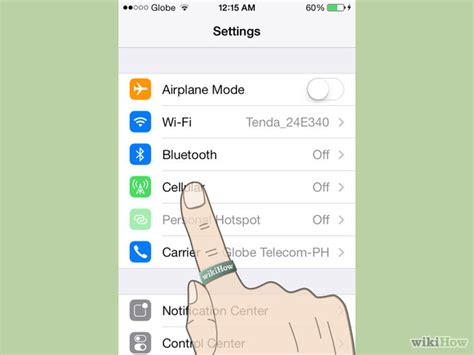 how to check data on iphone how to check data usage on an iphone 5 steps with pictures