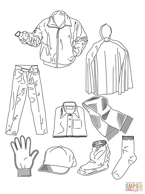 coloring cloth various clothes coloring page free printable coloring pages