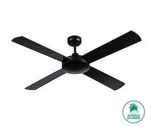 Futura cm fan only in black ceiling fans no lights