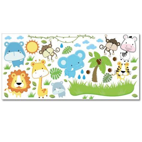 Wandtattoo Kinderzimmer Safari by Wandsticker Set Xl Baby Safari Tiere