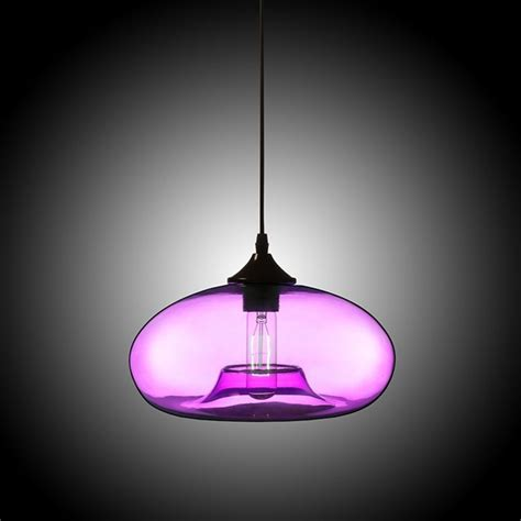 stock modern glass pendant light hand blown colorful