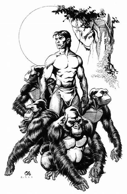 Tarzan Cho Frank Apes Edgar Burroughs Rice
