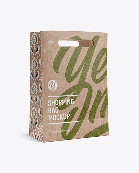 Free for individual and commercial use. Download Kraft Gift Box Mockup Half Side View Eye Level ...