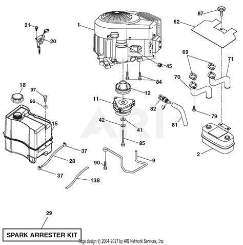 Sear 26 Kohler Engine Electrical Diagram by Ariens 936053 960460026 04 46 Quot Hydro Tractor Parts