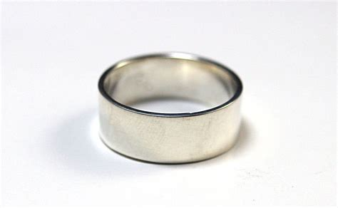 men s silver wedding ring 8mm wide men s silver wedding band simple silver band traditional
