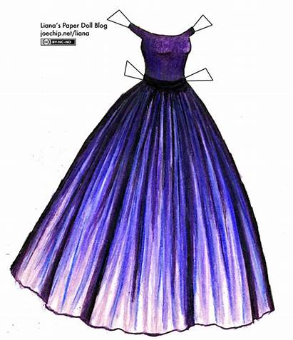 Gown Purple Paper Dolls Liana