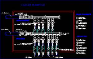 Manifold For Connection Pipe Pex DWG Detail for AutoCAD