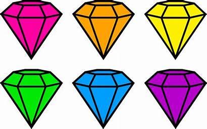 Neon Clipart Cartoon Colors Diamonds Diamond Transparent