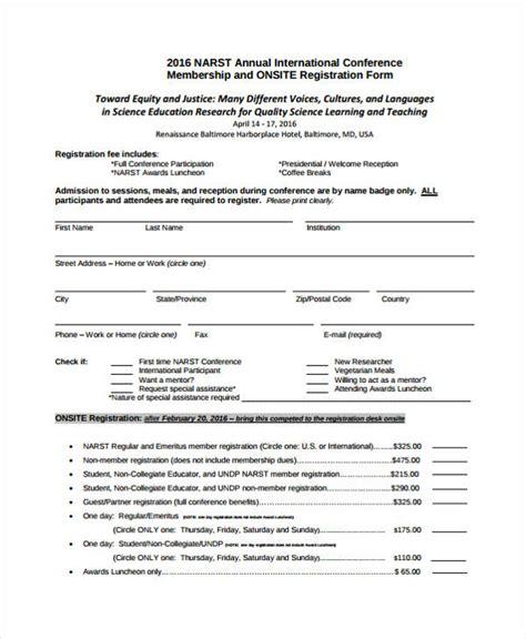 Sle Workshop Registration Form Template by 23 Conference Registration Form Templates
