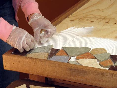 wooden table with tile top how to make a mosaic tile tabletop how tos diy