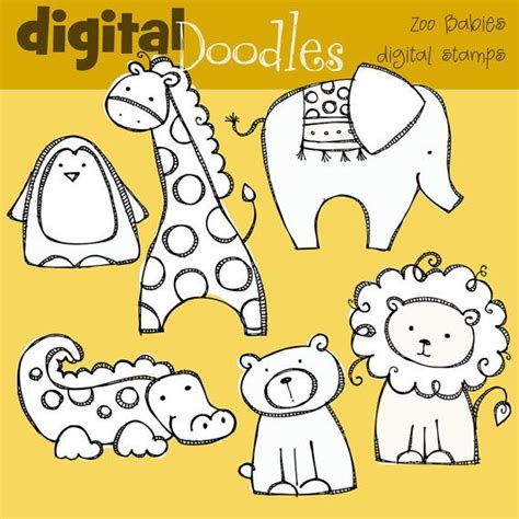 kpm zoo babies digital stamps