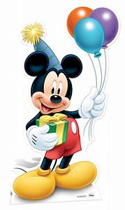 Mickey Mouse holding Balloons Party LIFESIZE CARDBOARD