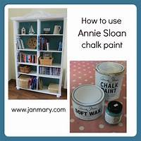 how to use chalkboard paint Bookcase makeover with Annie Sloan Chalk Paint