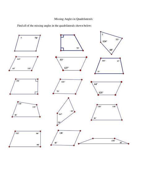 quadrilateral worksheets homeschooldressage