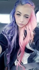 Half pink half purple pastel hair | Haaaaair | Pinterest ...