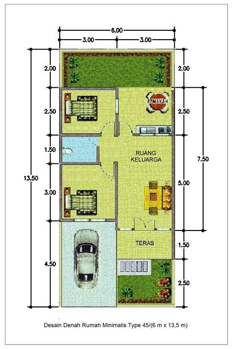 desain denah rumah minimalis type    info properti terbaru