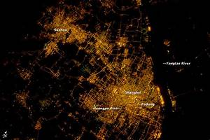 NASA Visible Earth: Shanghai At Night: A Growing City