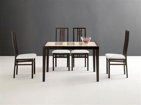 poker table and scala chairs wenge and cherry modern