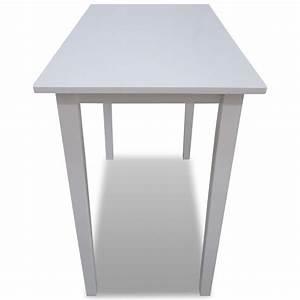 Table De Bar Blanche : acheter table de bar blanche en bois pas cher ~ Voncanada.com Idées de Décoration