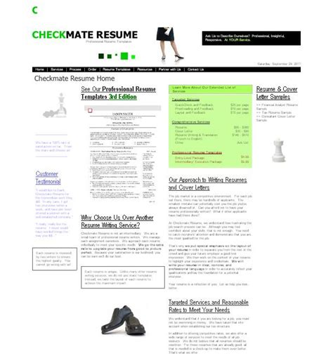 Importance Of Writing Resumes by Review Of Resume Writing Service Checkmateresume