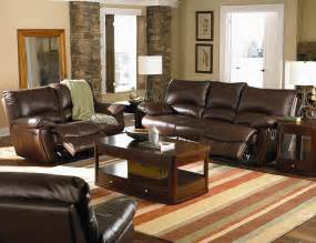living room decorating ideas with brown leather furniture lighting home design