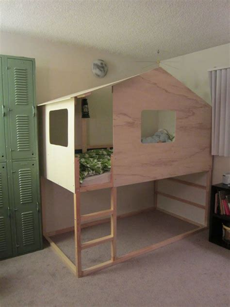 bed hack loft bed ikea hack ikea hacks pinterest kura bed indoor tree house and for kids