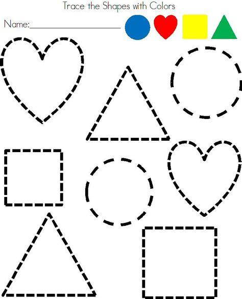 preschool shapes tracing worksheet shapes preschool 845 | d52143efeb06780a8817301333254502