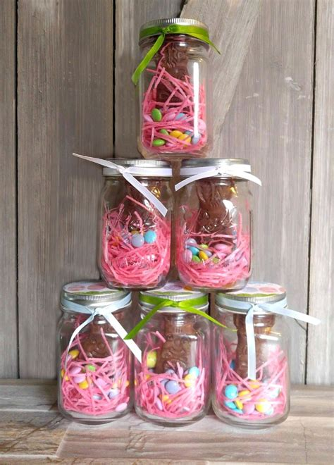 mason jar easter bunny treats project  gardening cook