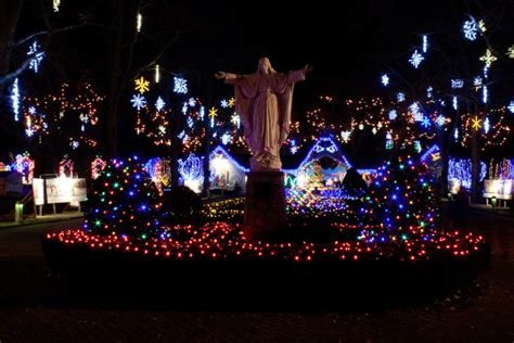 la salette christmas lights the national shrine of our lady of la salette in attleboro