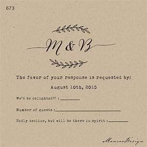 custom rubber stamp swirl diy rsvp stamp wedding With wedding invitation etiquette rsvp stamps