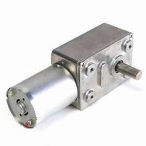 Gw370 12v 6rpm Reversible High Worm Geared Motor Torque