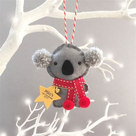 koala personalised christmas decoration   shelly