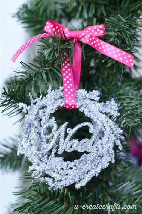 mini wreath christmas ornaments  create
