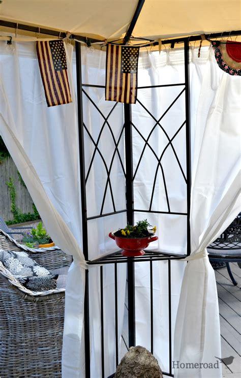 diy outdoor canopy curtains homeroad