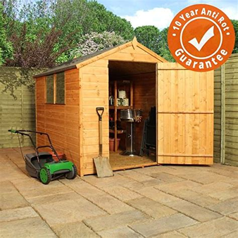 large wooden garden sheds 8x6 shiplap wooden apex garden shed large single door