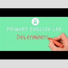 Animated Grammar Guides Determiners Youtube