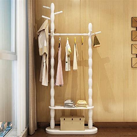 floor home hanger bedroom solid wood racks minimalist