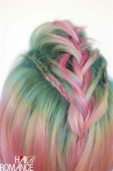 braids  short hair faux hawk braids  unicorn hair