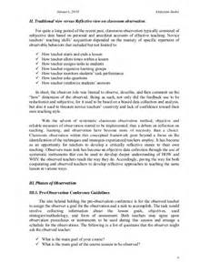 classroom observation reflection paper intermediary devices on a classroom observation reflection paper