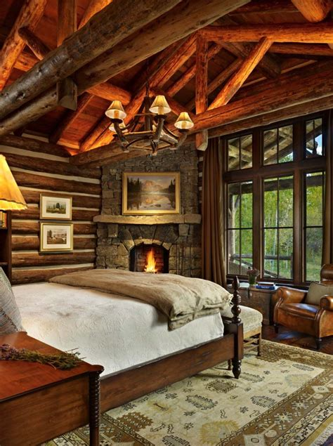 Home Design Ideas Bedroom 35 gorgeous log cabin style bedrooms to make you drool