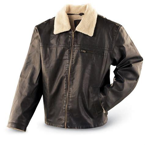 Leeu00ae Sherpa Lined Jacket Brown - 130427 Insulated Jackets u0026 Coats at Sportsmanu0026#39;s Guide