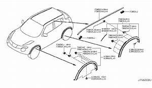 2012 Nissan Juke Body Side Molding