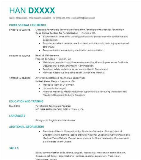 forensic manager resume exle mental health